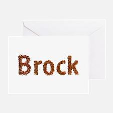 Brock Fall Leaves Greeting Card