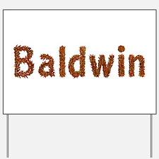 Baldwin Fall Leaves Yard Sign
