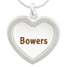Bowers Fall Leaves Silver Heart Necklace