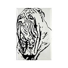 Mastino Head Study Rectangle Magnet (100 pack)