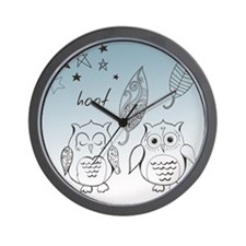 Owl Pals Wall Clock