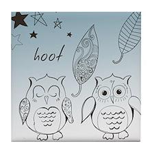 Owl Pals Tile Coaster