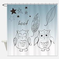 Owl Pals Shower Curtain