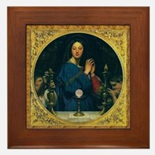 Our Lady of the Eucharist Framed Tile