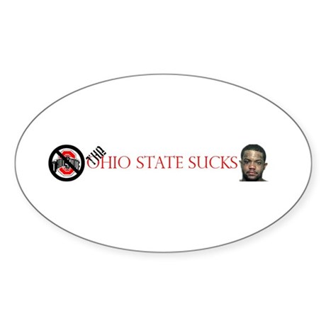 Ohio State Sucks Oval Sticker