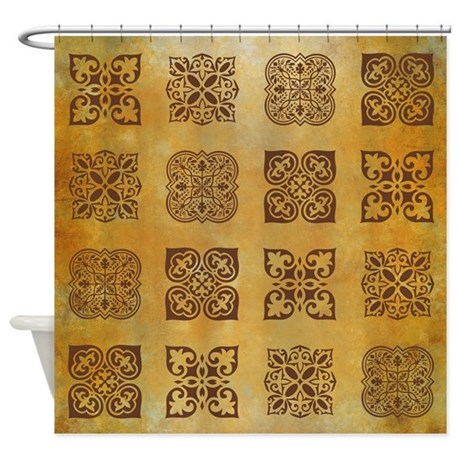 rust shower curtain by rockinmoroccan