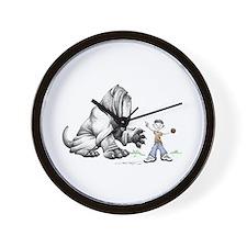 Cute Neapolitan mastiff Wall Clock