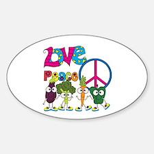 Love Peace Veggies Decal