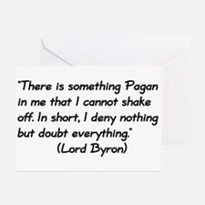 Lord Byron Pagan Quote Greeting Cards (Package of