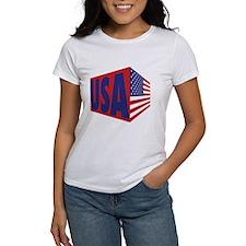 USA Flag Block T-Shirt