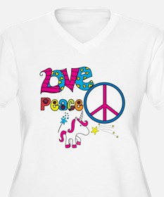 Love Peace Unicorns T-Shirt