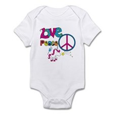Love Peace Unicorns Infant Bodysuit