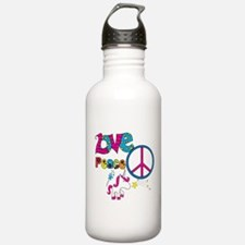 Love Peace Unicorns Water Bottle