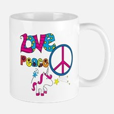 Love Peace Unicorns Mug