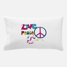 Love Peace Unicorns Pillow Case