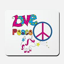 Love Peace Unicorns Mousepad