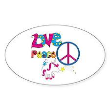Love Peace Unicorns Decal