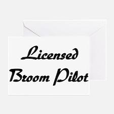 Licensed Broom Pilot Greeting Cards (Pk of 10)