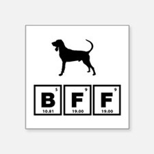 """Black and Tan Coonhound Square Sticker 3"""" x 3"""""""