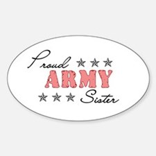 Proud Army Sister Oval Decal