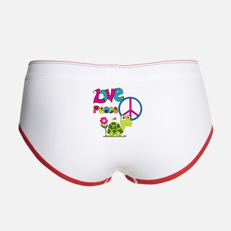 Love Peace Turtles Women's Boy Brief