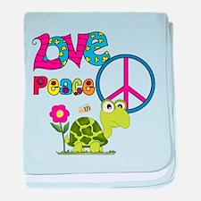 Love Peace Turtles baby blanket