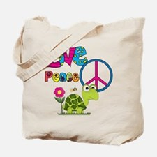 Love Peace Turtles Tote Bag