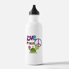 Love Peace Turtles Water Bottle