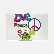 Love Peace Turtles Rectangle Magnet