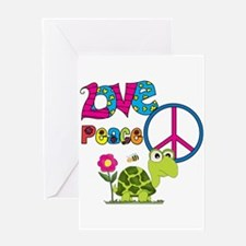 Love Peace Turtles Greeting Card