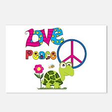 Love Peace Turtles Postcards (Package of 8)
