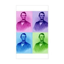 President Abe Lincoln Rectangle Decal
