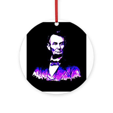President Abe Lincoln Ornament (Round)