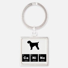 Black Russian Terrier Square Keychain