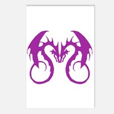 Purple Love Dragons Postcards (Package of 8)