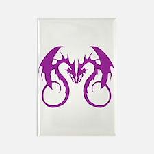 Purple Love Dragons Rectangle Magnet
