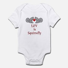 Squirrel Valentine Infant Bodysuit