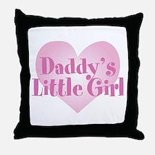 Daddy's Little Girl Throw Pillow