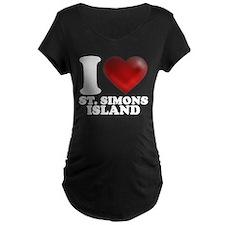I Heart St. Simons Island Maternity T-Shirt