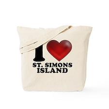 I Heart St. Simons Island Tote Bag