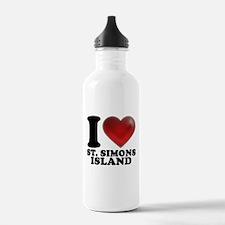 I Heart St. Simons Island Water Bottle
