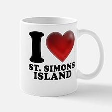 I Heart St. Simons Island Mugs