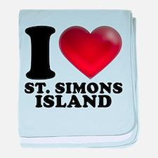I Heart St. Simons Island baby blanket
