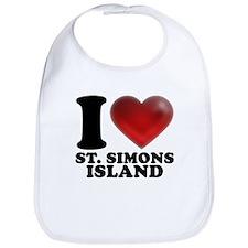 I Heart St. Simons Island Bib
