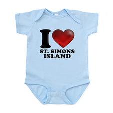 I Heart St. Simons Island Body Suit
