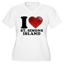 I Heart St. Simons Island Plus Size T-Shirt