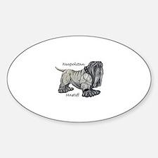 Neapolitan Mastiff Oval Bumper Stickers