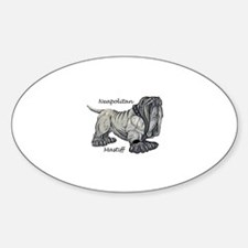Neapolitan Mastiff Oval Decal