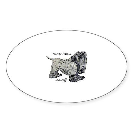Neapolitan Mastiff Oval Sticker