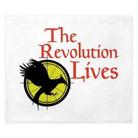 Catching Fire Revolution King Duvet